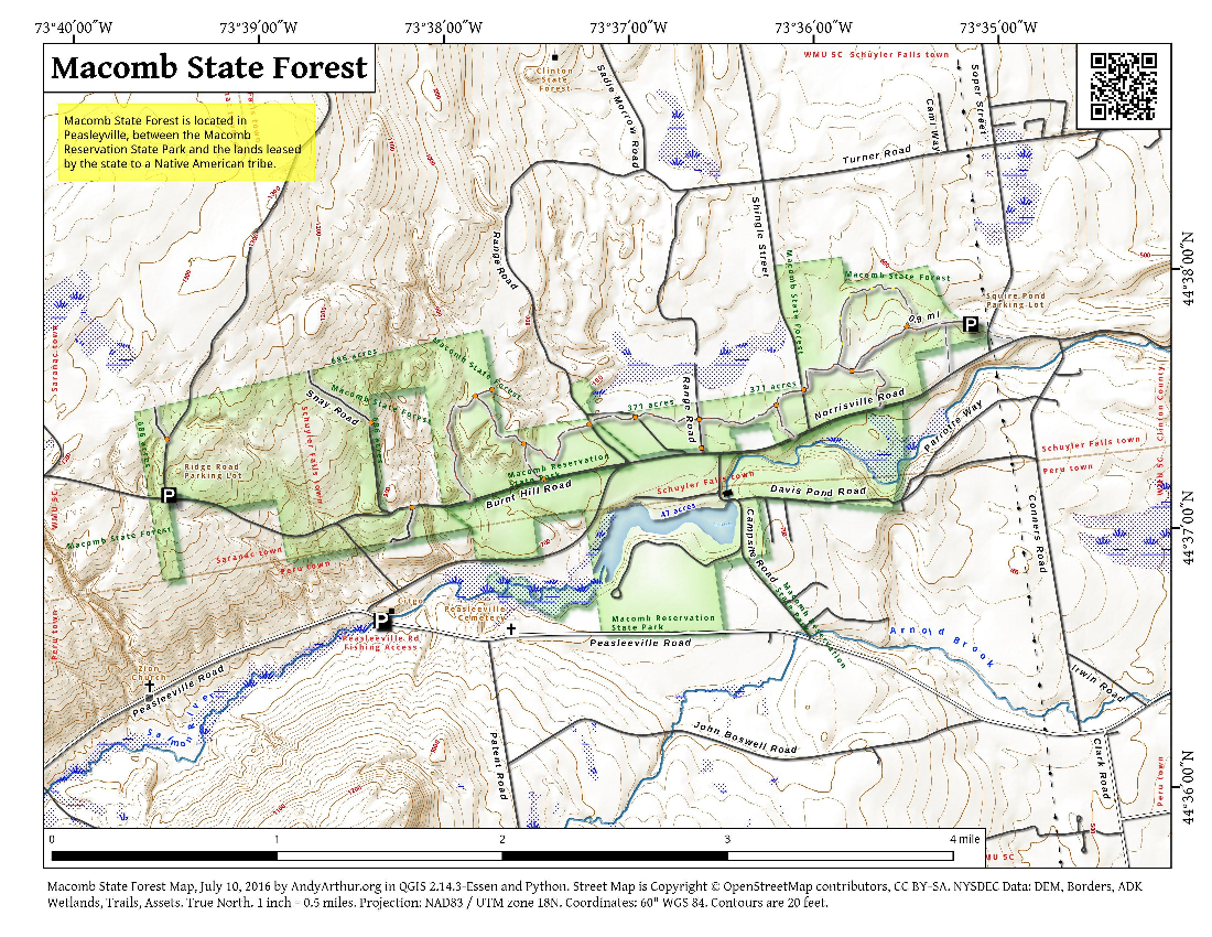 Map: Macomb State Forest