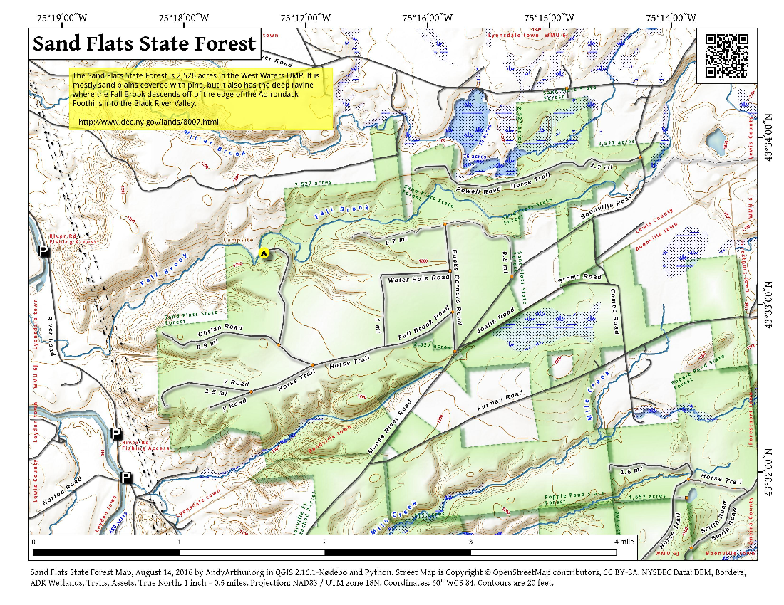 Map: Sand Flats State Forest