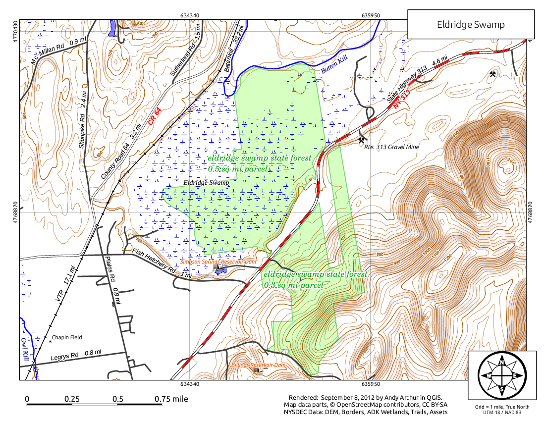 Map: Eldridge Swamp
