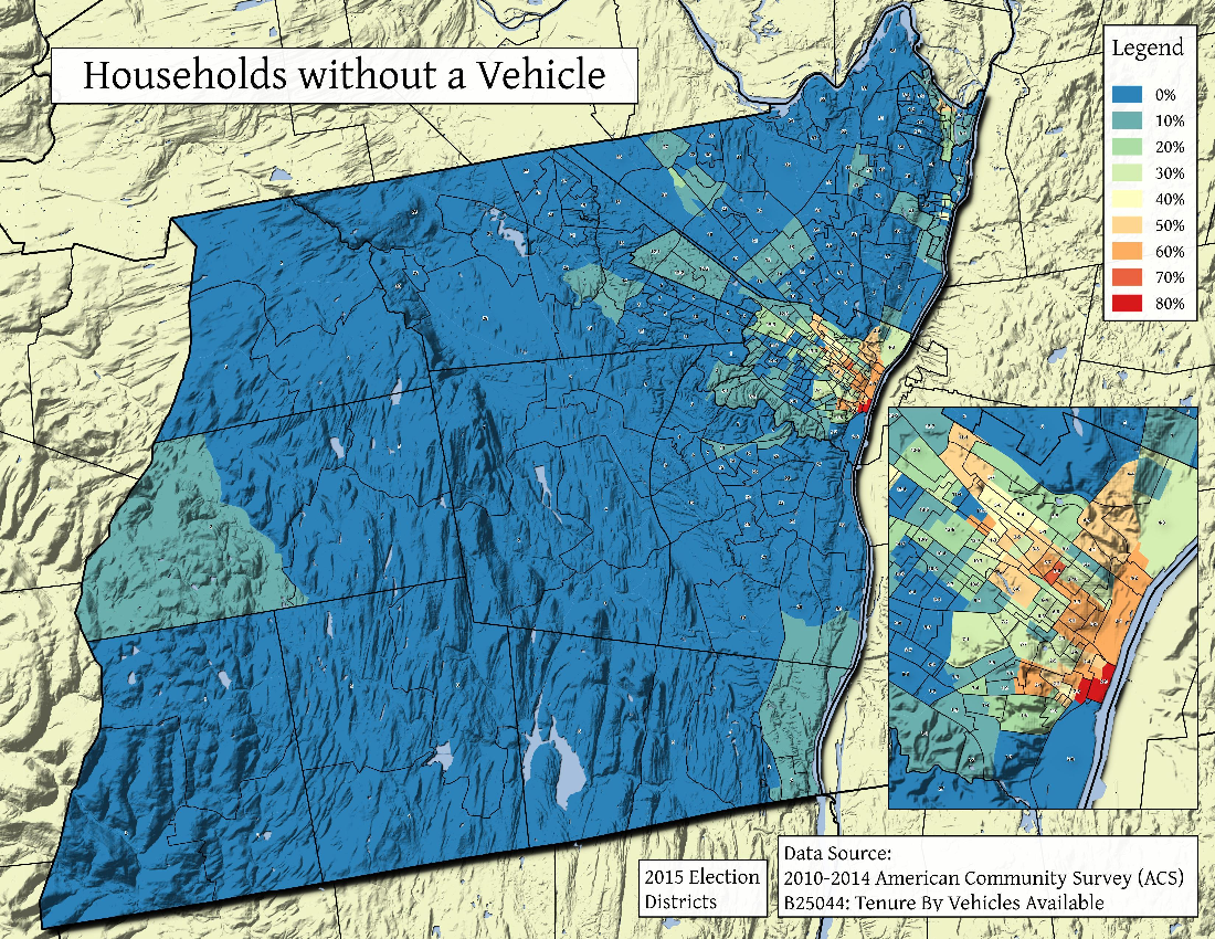 Map: Households Without A Vehicle