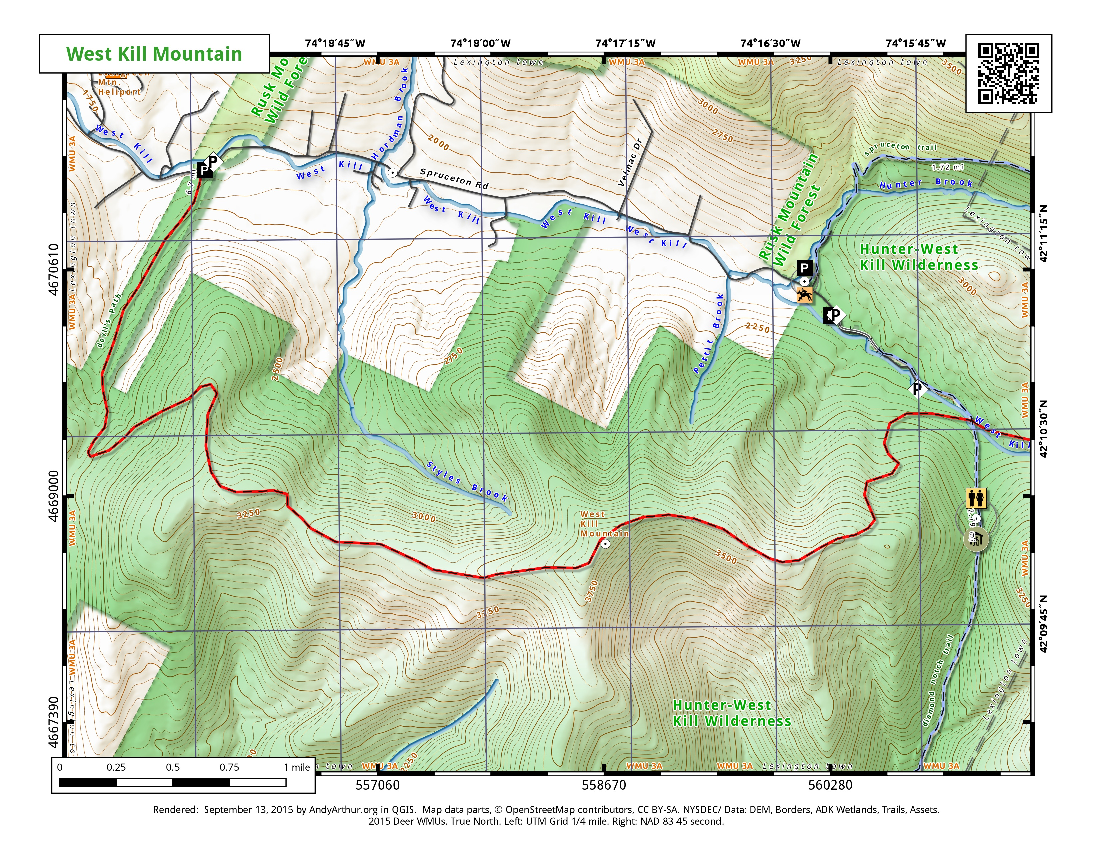 Map: West Kill Mountain