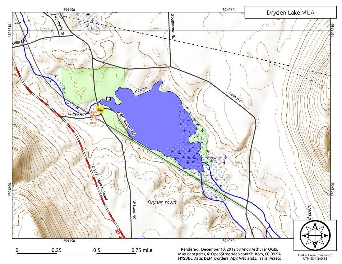 Map: Dryden Lake