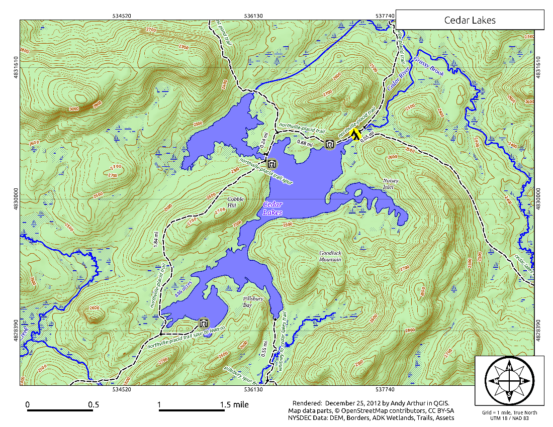 West Canada Lake Wilderness Andy Arthurorg - Map of canada with lakes