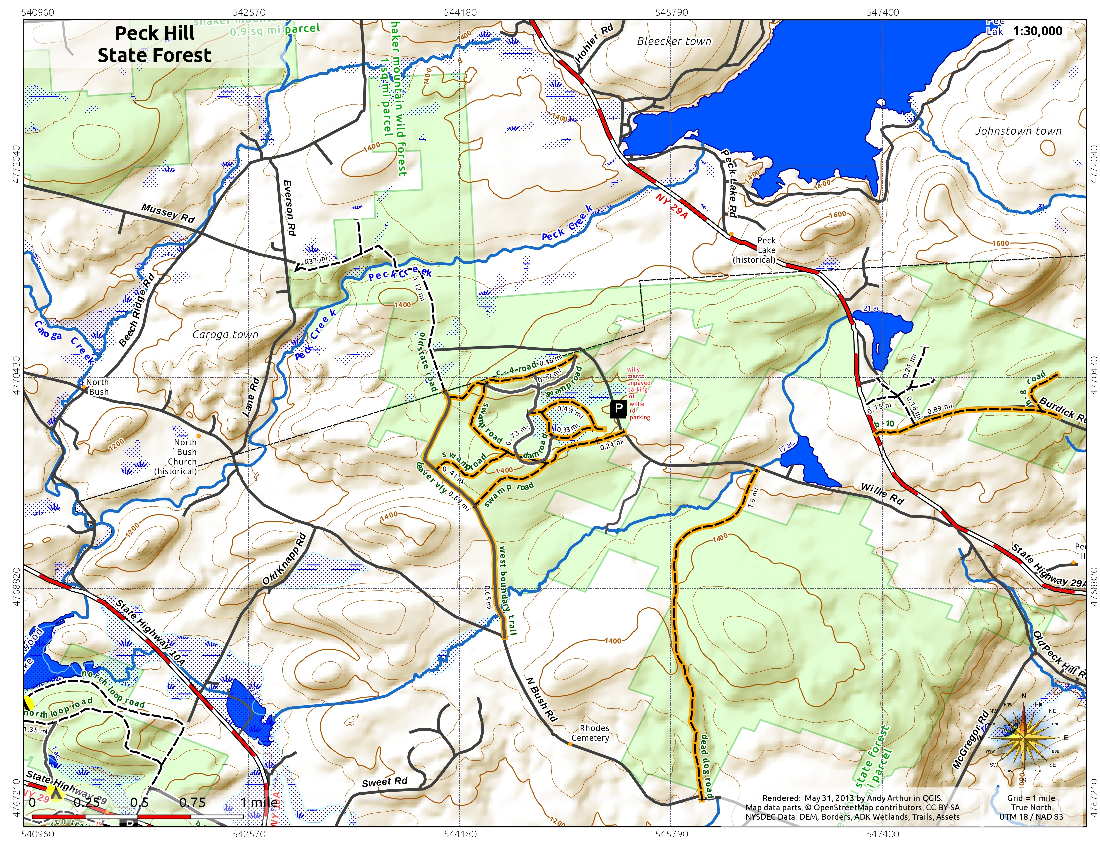 Map: Peck Hill State Forest