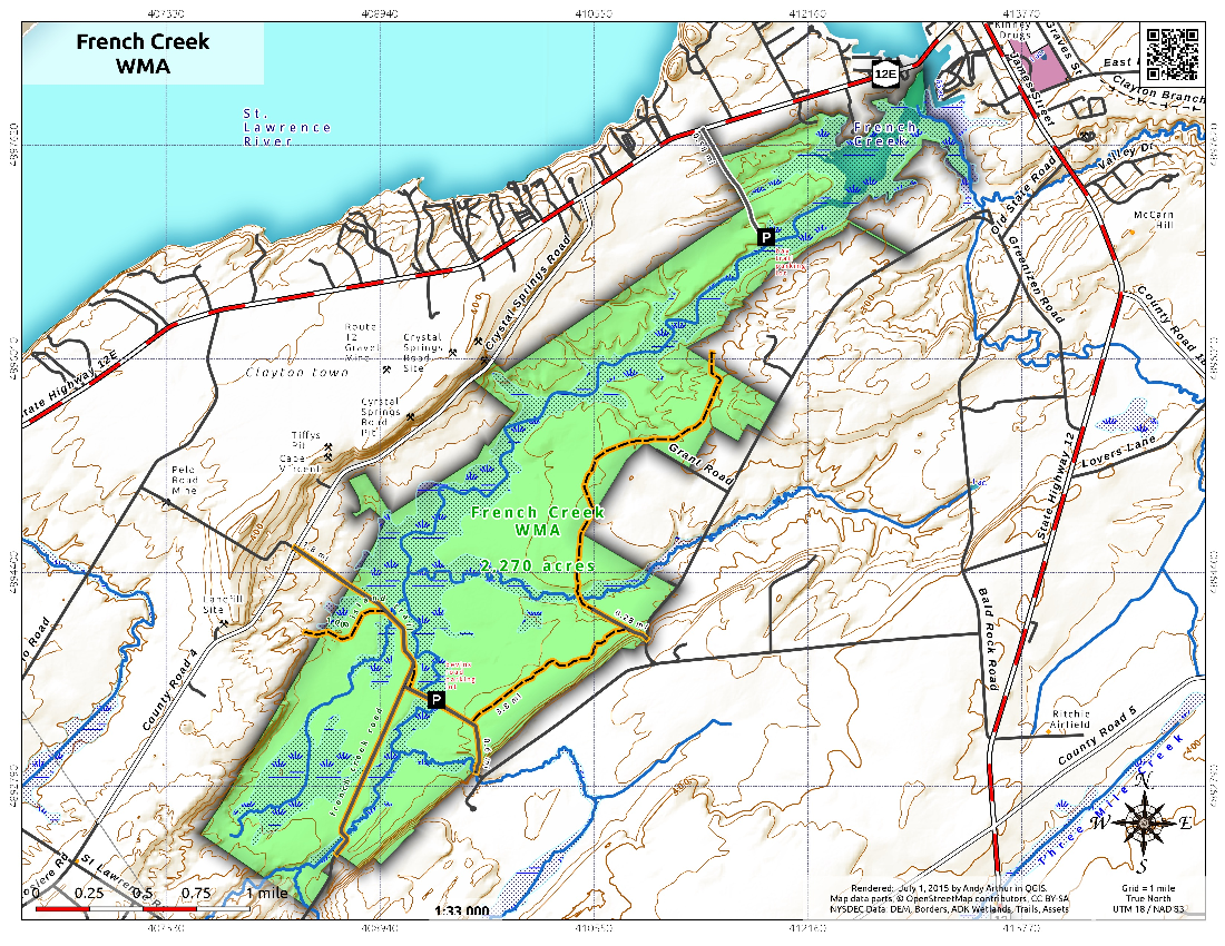 Map: French Creek WMA