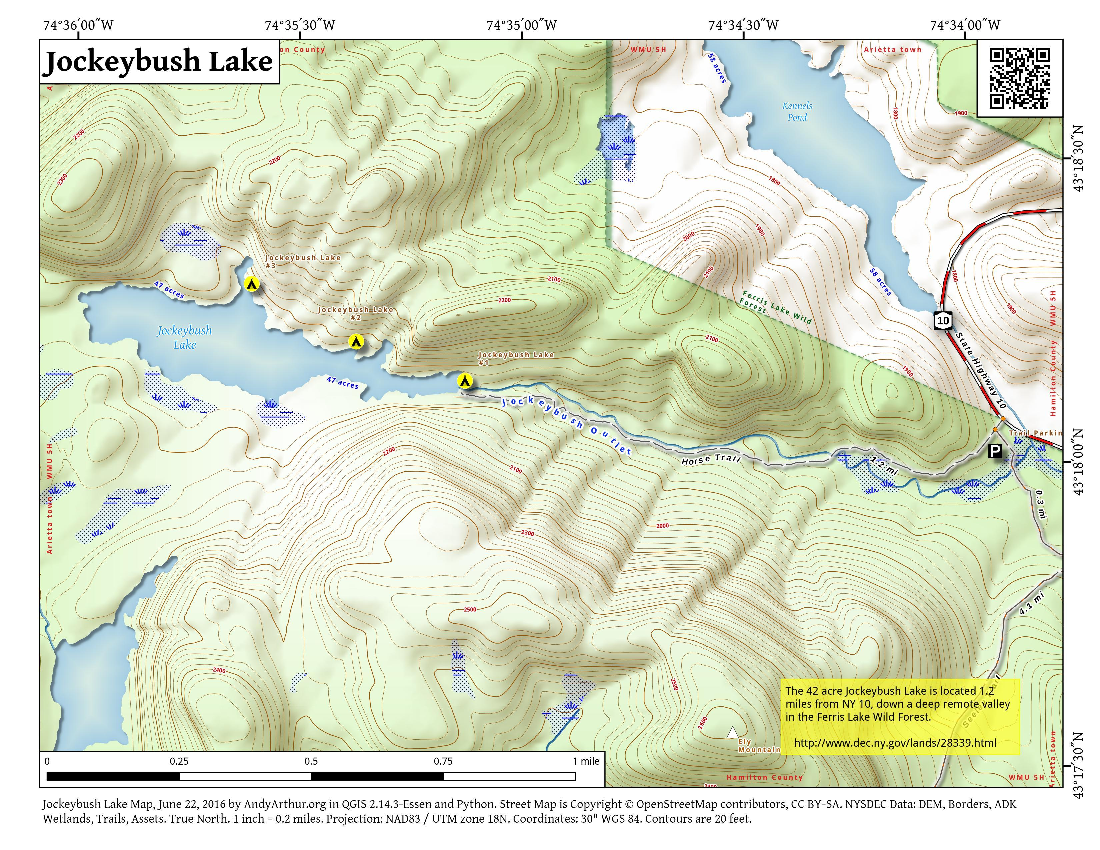 Map: Balfour Lake