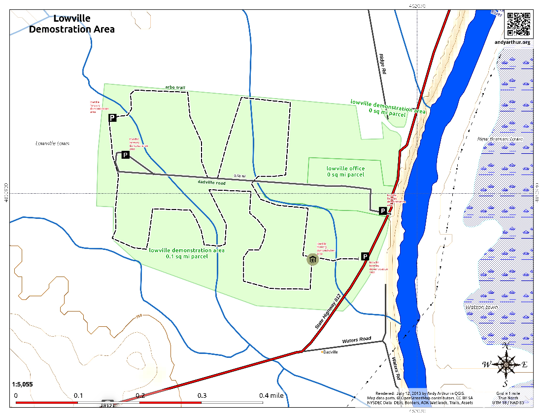 Map: Lowville Demostration Area