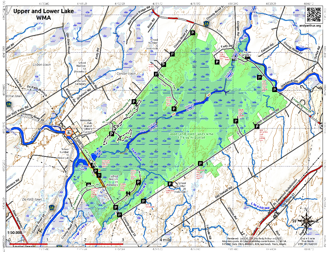 Map: Upper And Lower Lake WMA