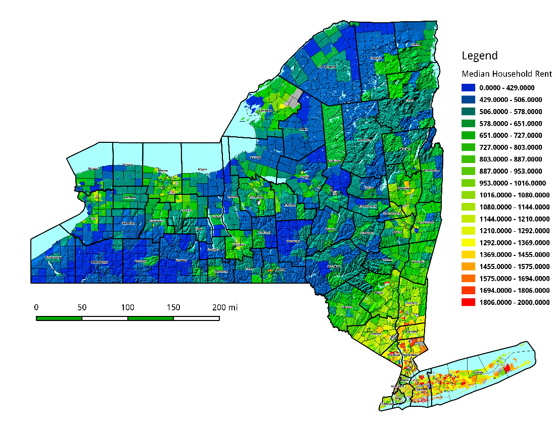 Map: Median Household Rent