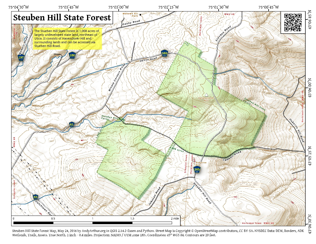 Map: Steuben Hill State Forest