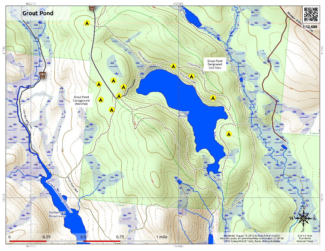 Map: Grout Pond