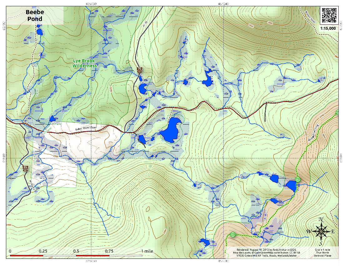 Map: Beebe Pond