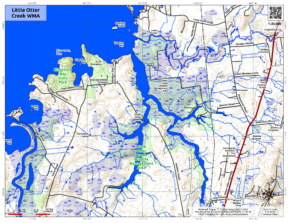 Map: Little Otter Creek WMA