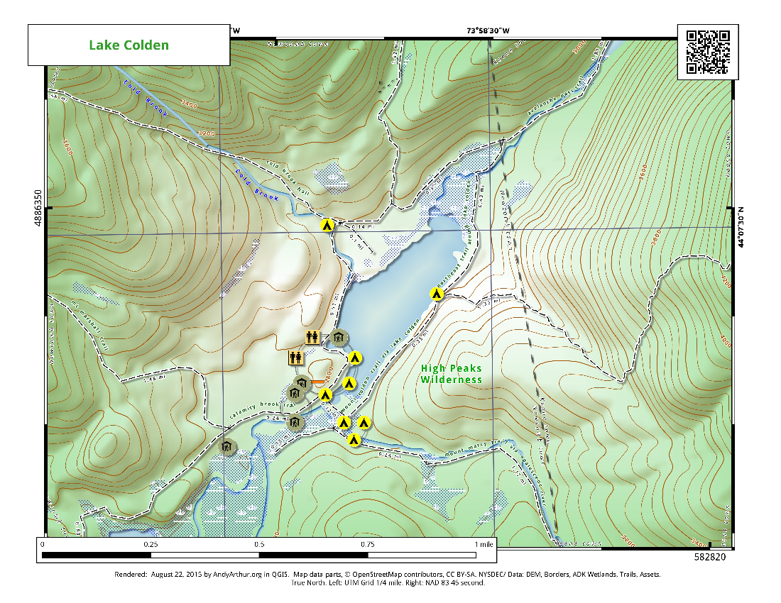 Map: Lake Colden