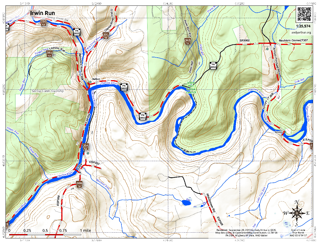Map: Irwin Run