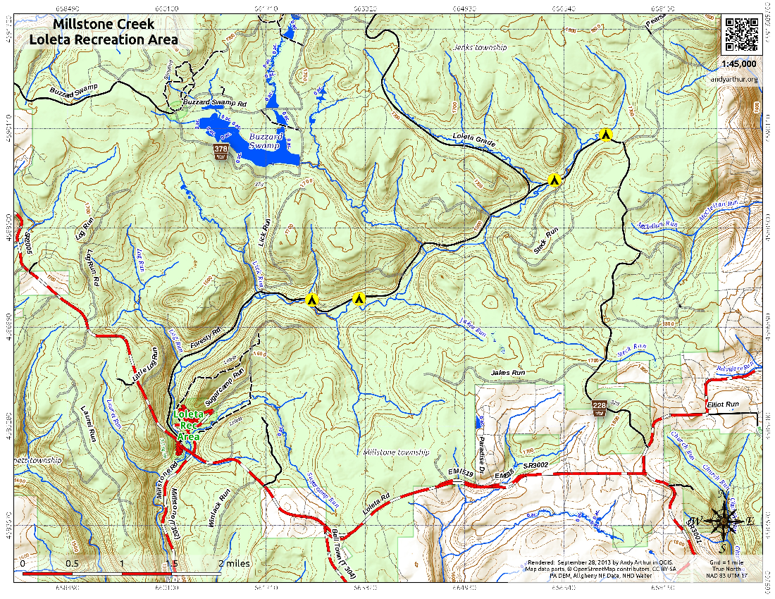 Map: Millstone Creek