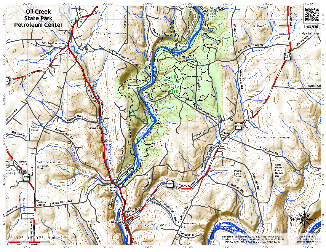 Oil Creek State Park Andy Arthurorg - Us state parks map