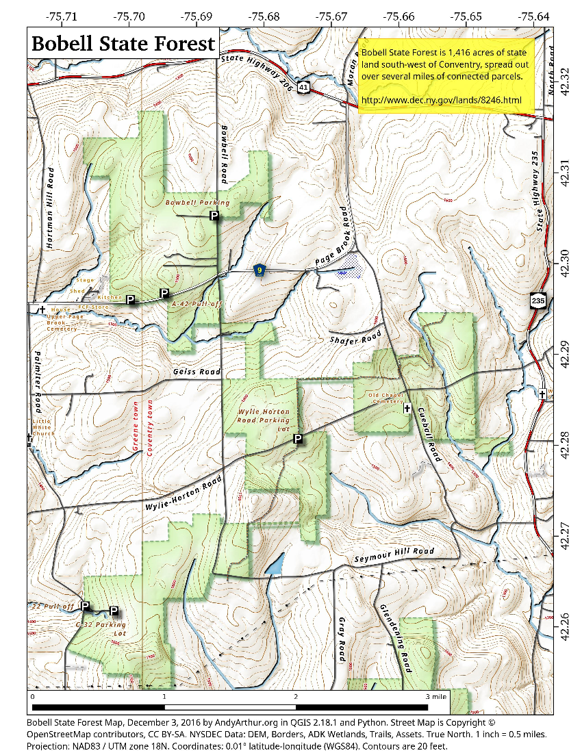 Map: Bobell State Forest