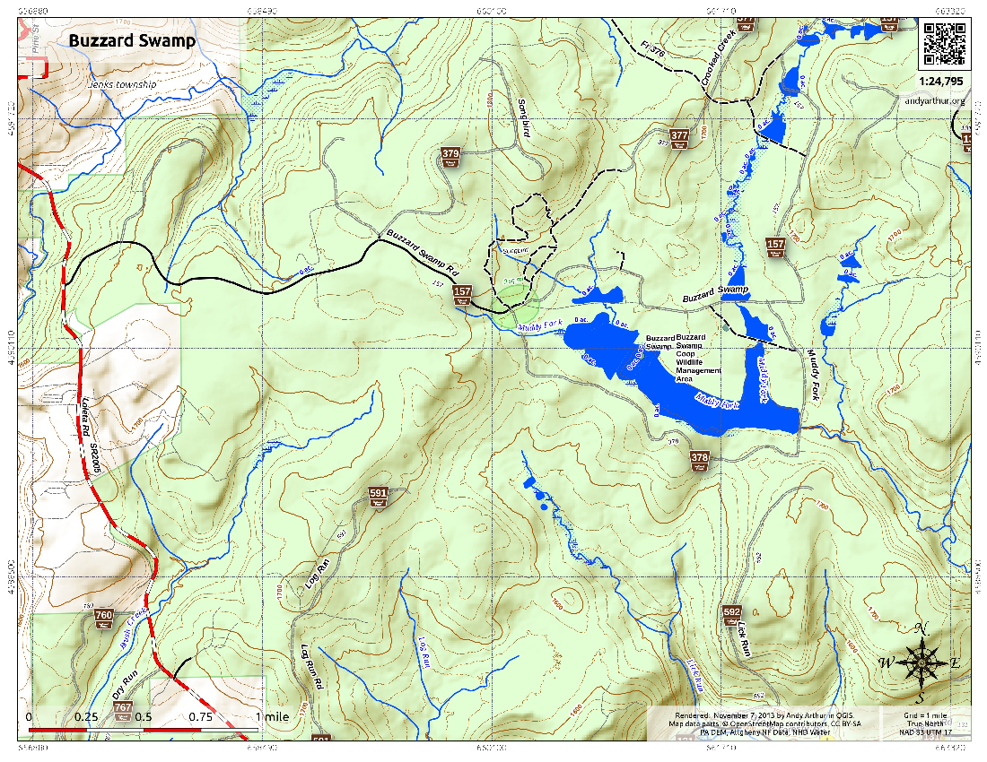 Map: Buzzard Swamp