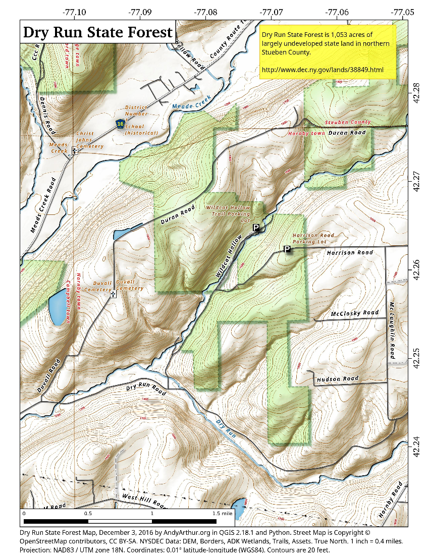 Map: Dry Run State Forest