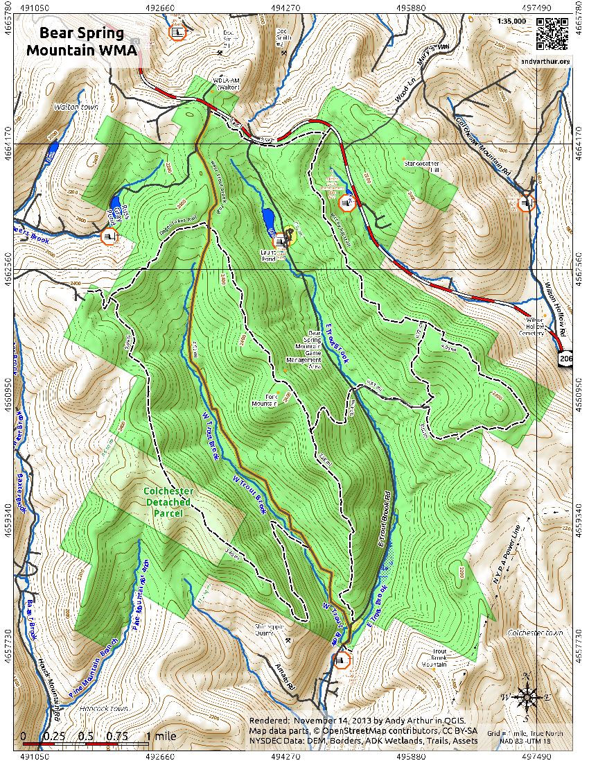 Map: Bear Spring Mountain WMA