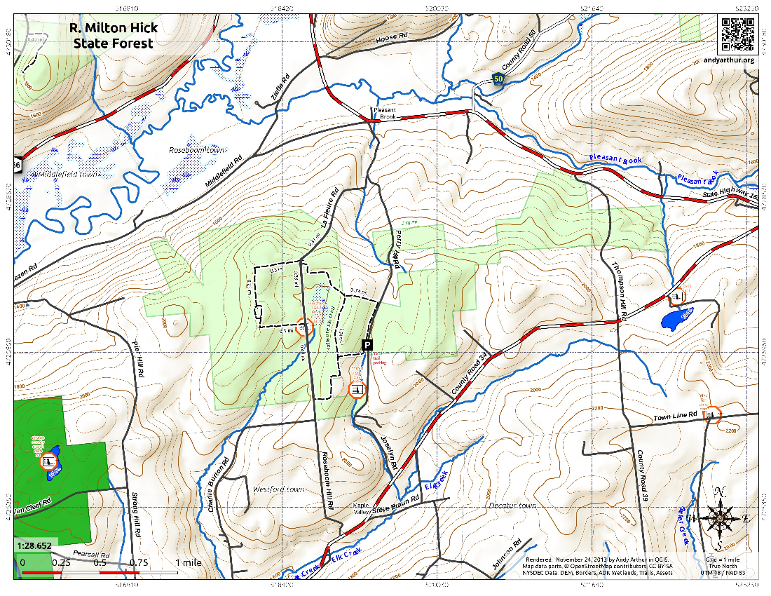 Map: R Milton Hick State Forest