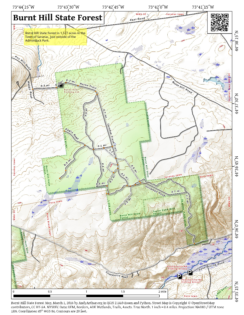 Map: Burnt Hill State Forest