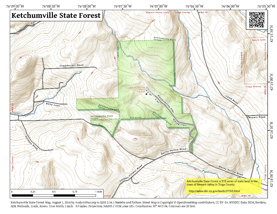 Map: Ketchumville State Forest