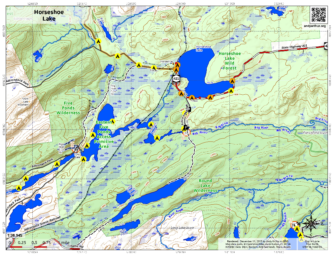 Map: Horseshoe Lake