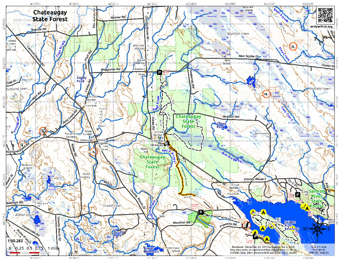 Map: Chateaugay State Forest