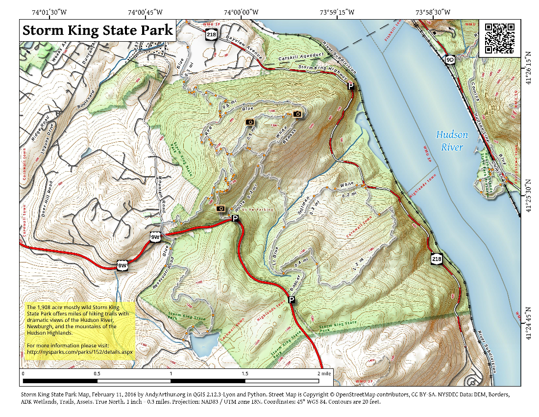 Map: Storm King State Park
