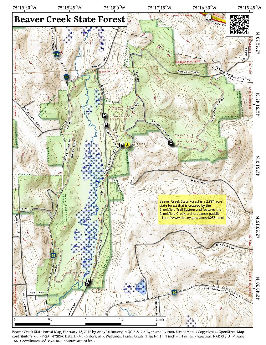 Beaver Creek State Forest Andy Arthurorg - Beavercreek trail map