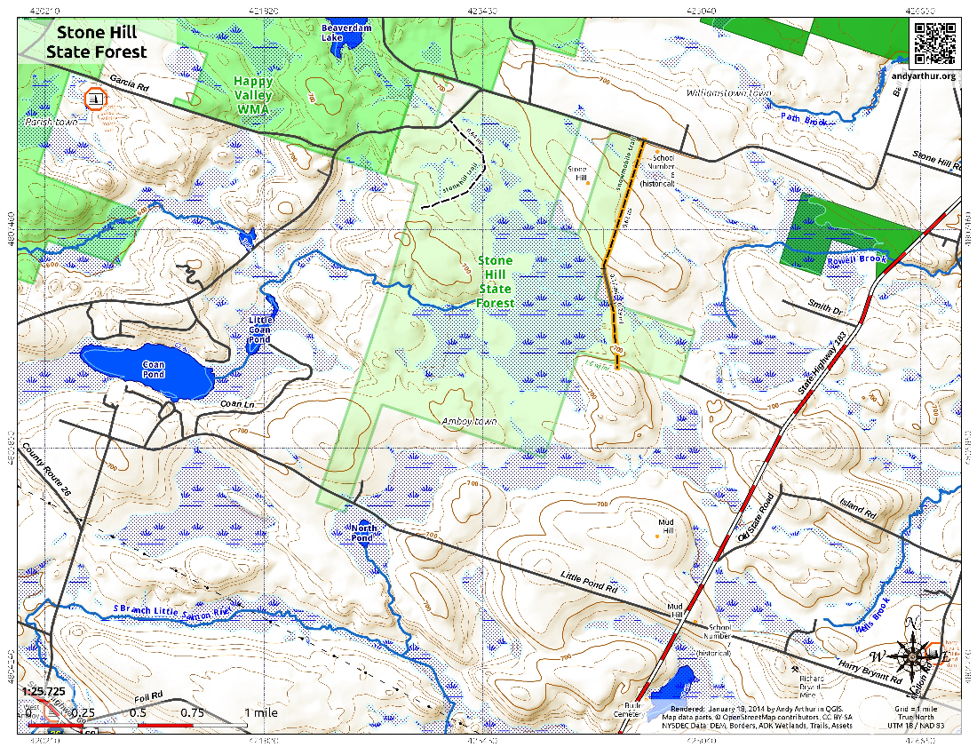 Map: Stone Hill State Forest