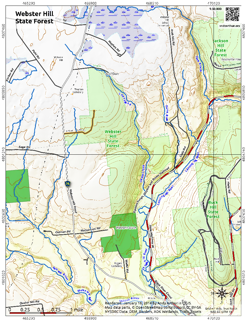 Map: Webster Hill State Forest