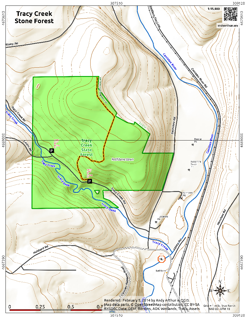 Map: Tracy Creek State Forest