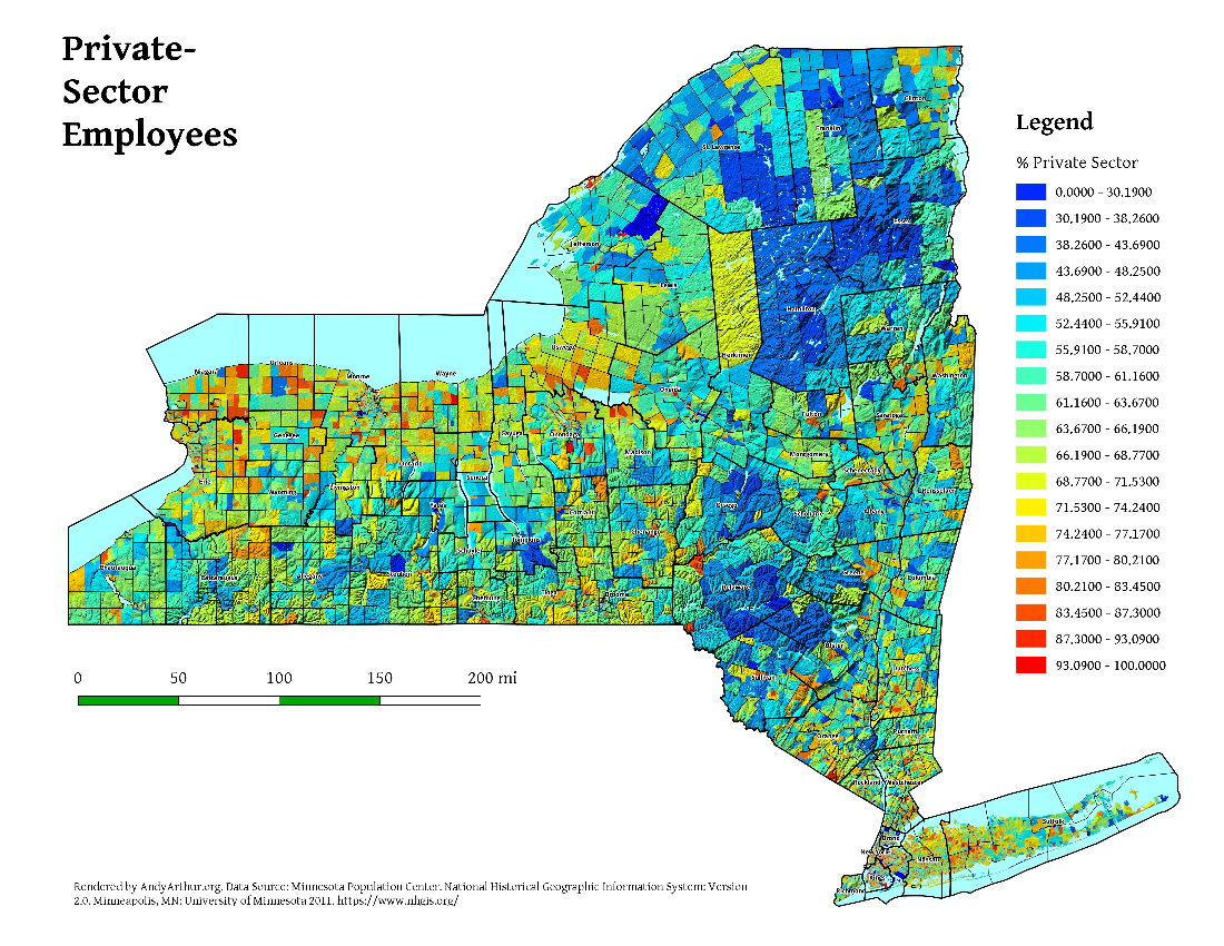 Map: Private Sector Workers