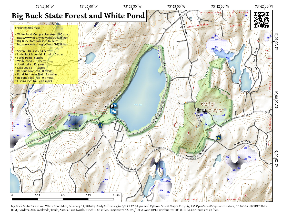 Map: Big Buck State Forest And White Pond