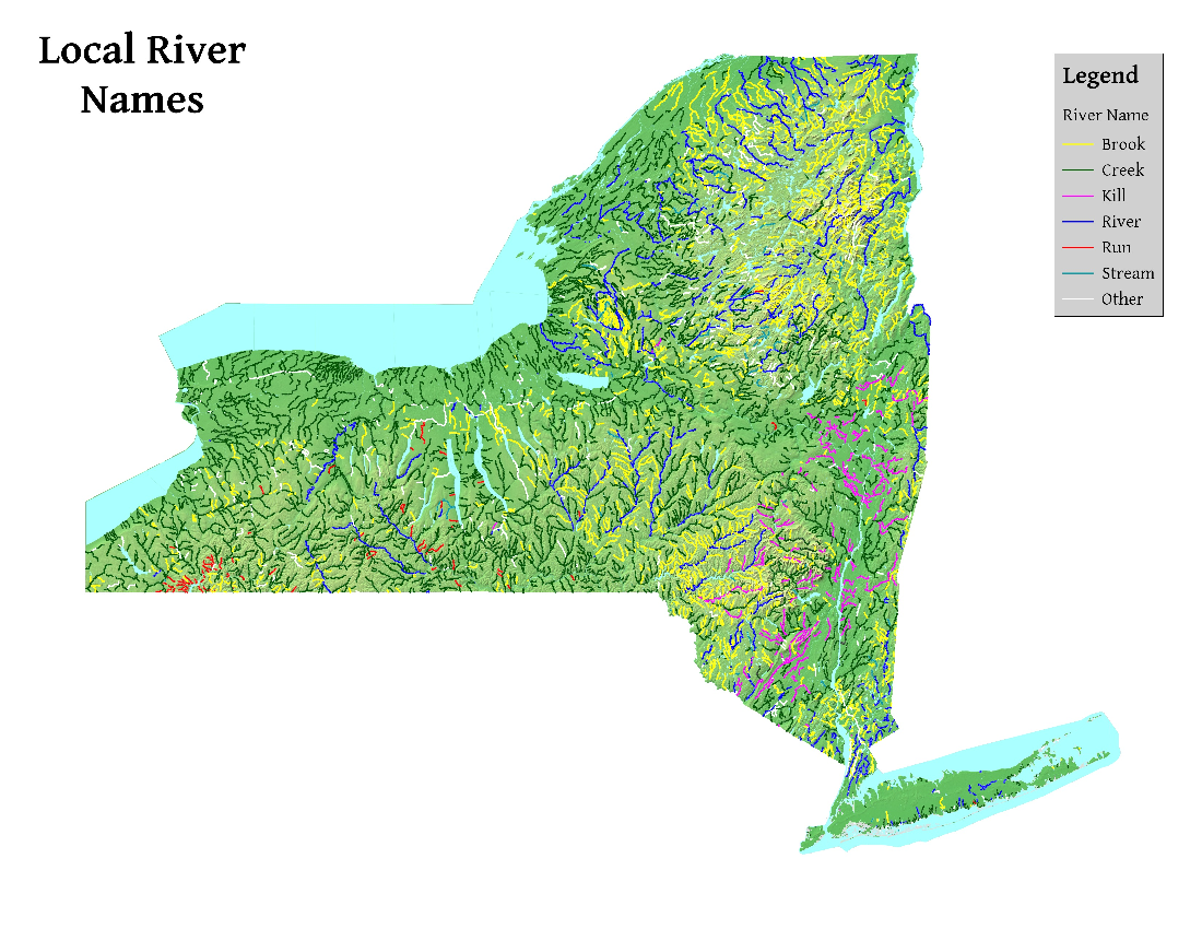 Map: Local River Names