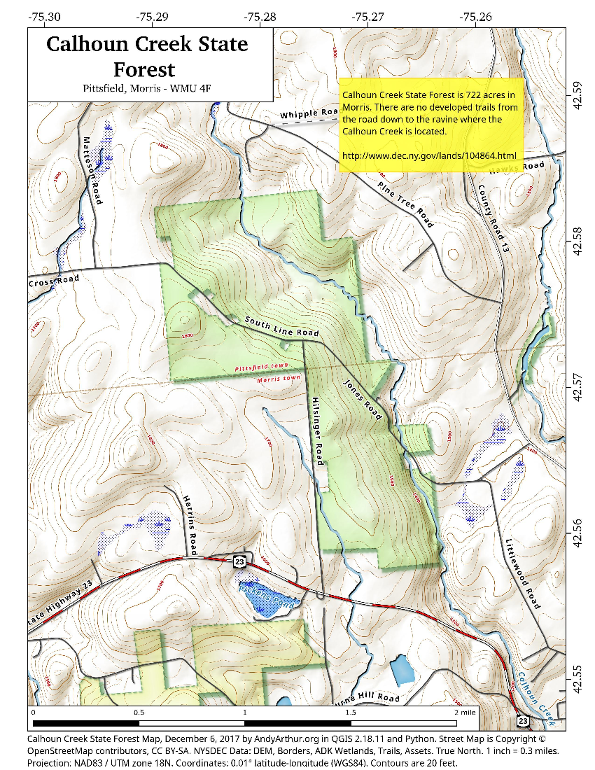 Map: Calhoun Creek State Forest