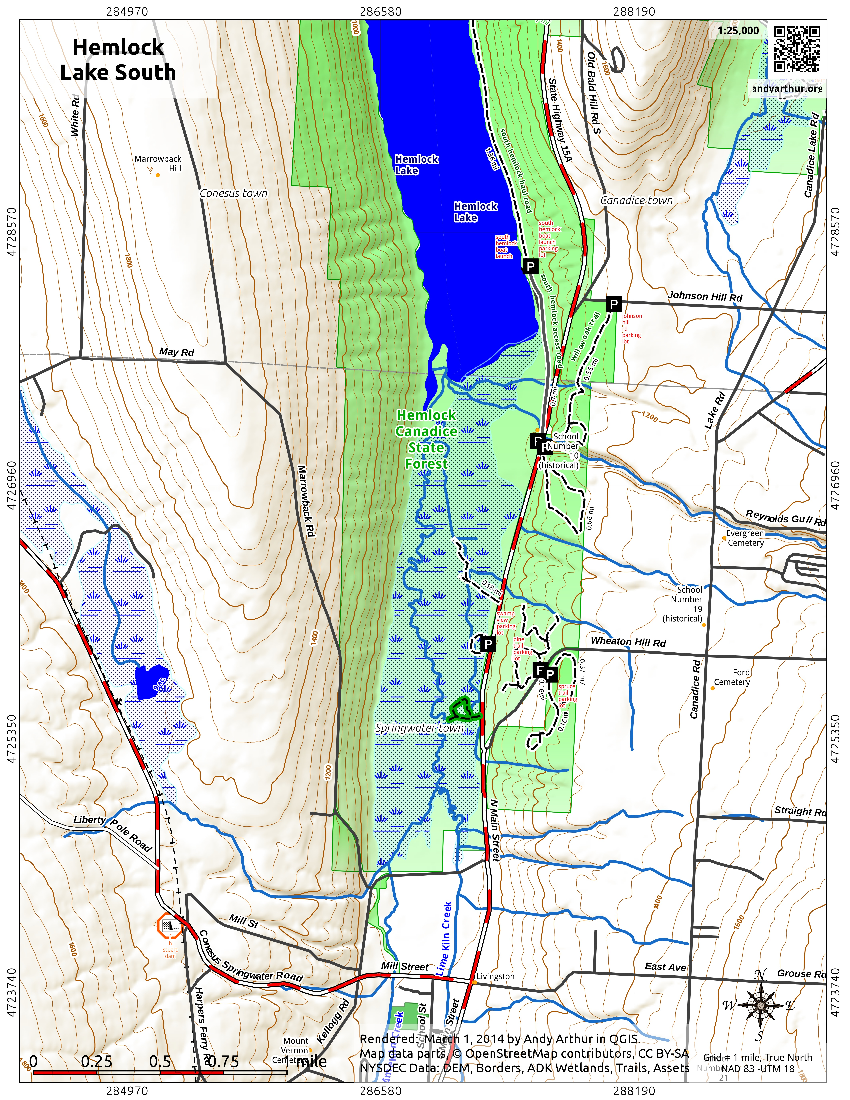 Map: Hemlock Lake South