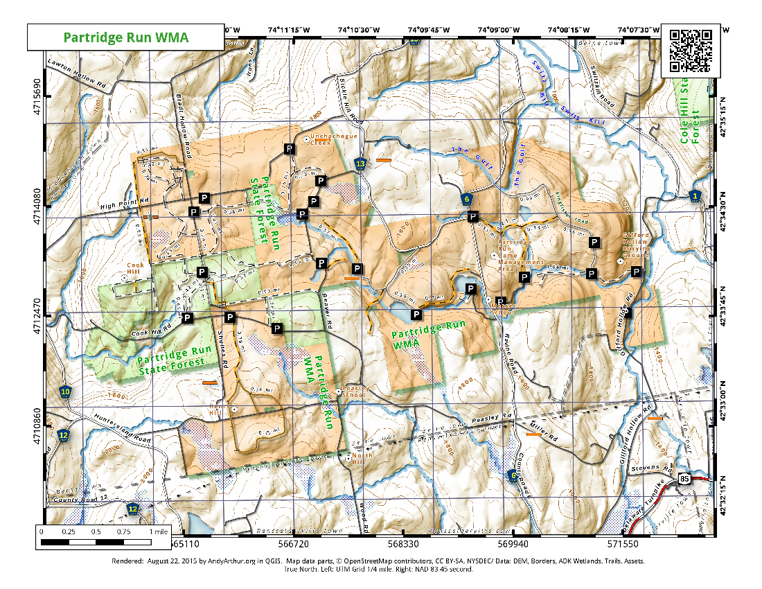 Map Lawson Lake
