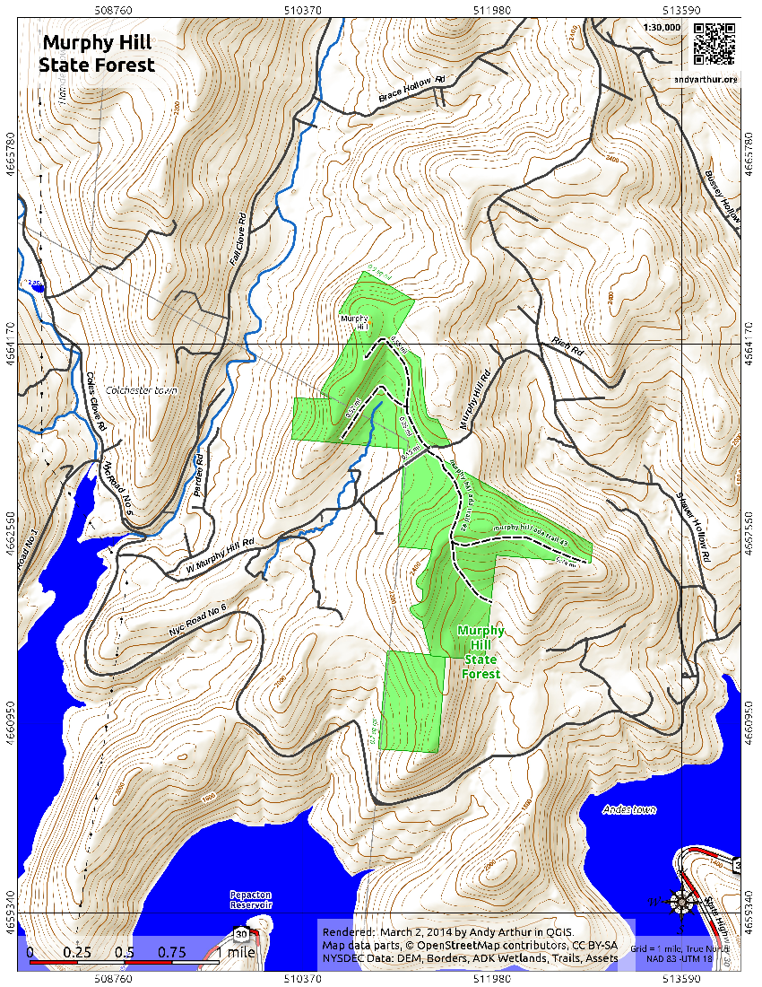 Map: Murphy Hill State Forest