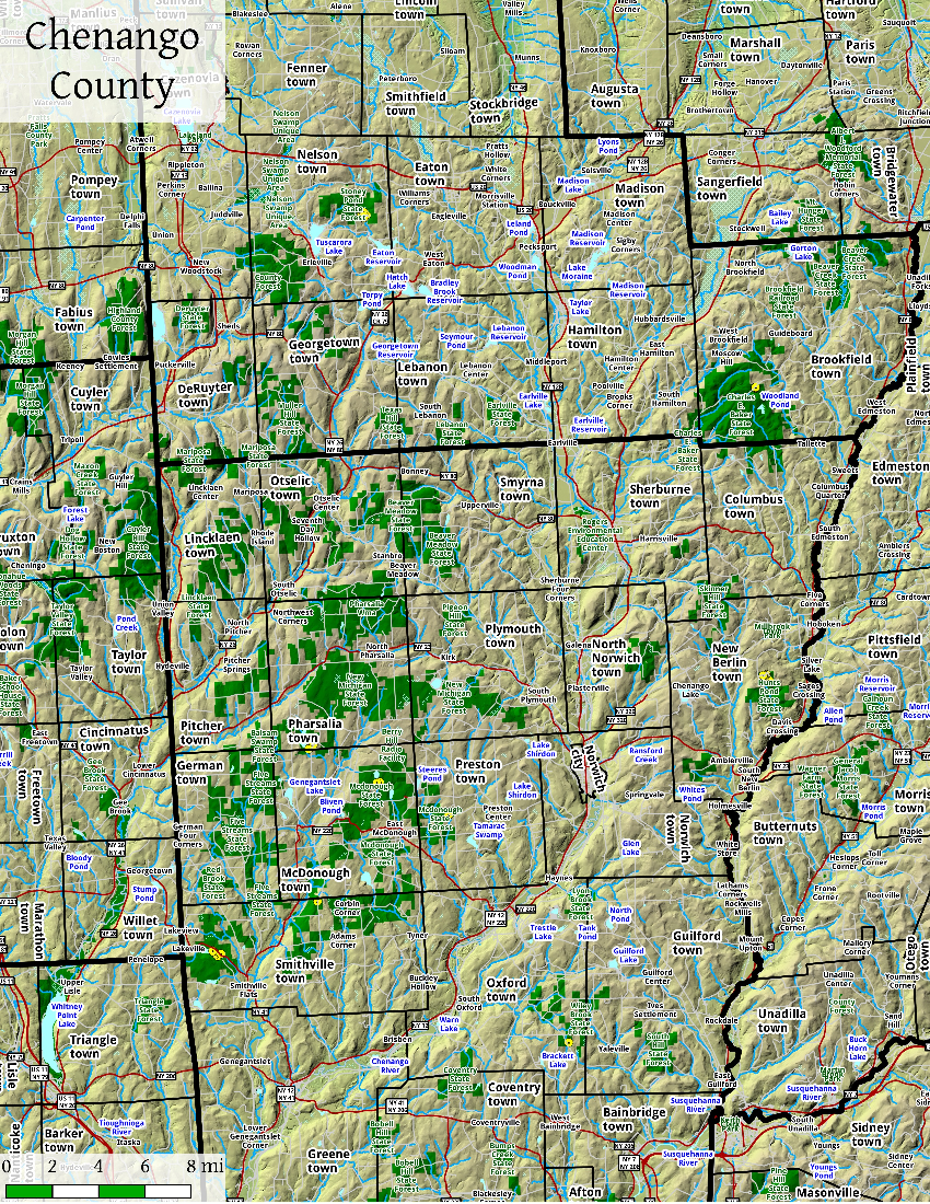 Map: Chenango County