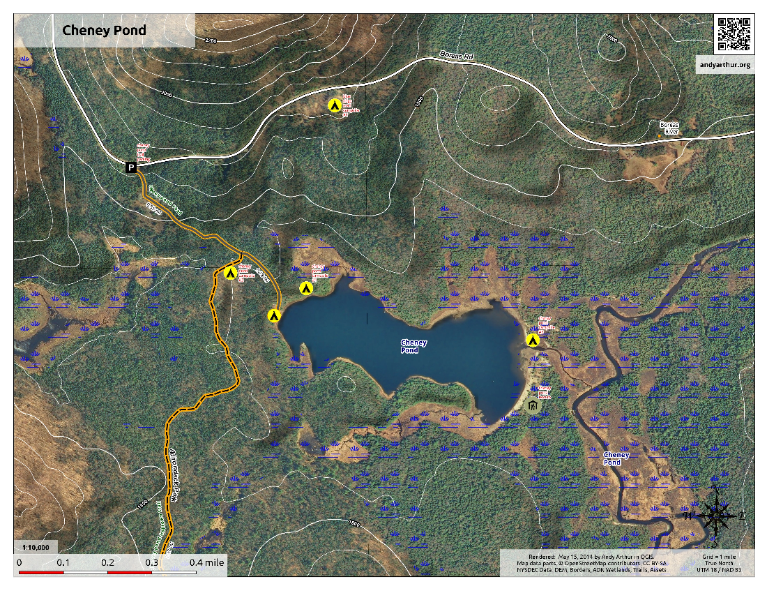 Map: Cheneny Pond