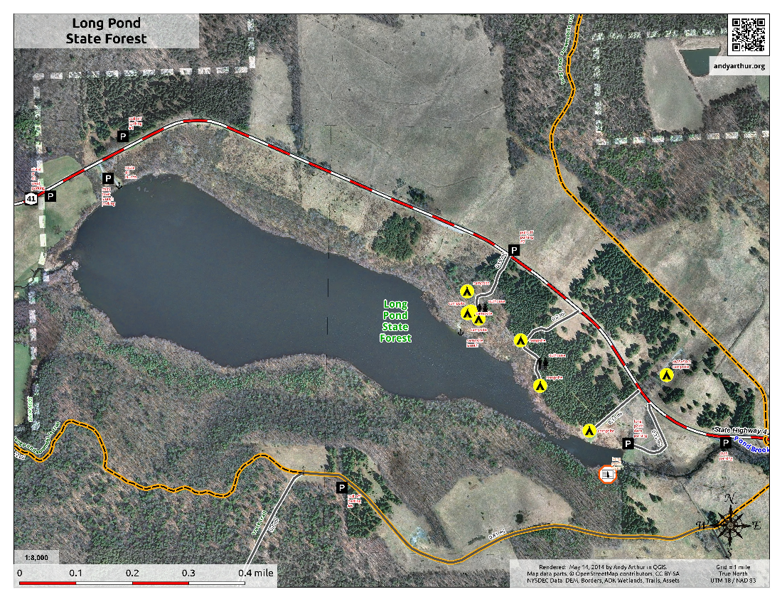 Map: Long Pond State Forest