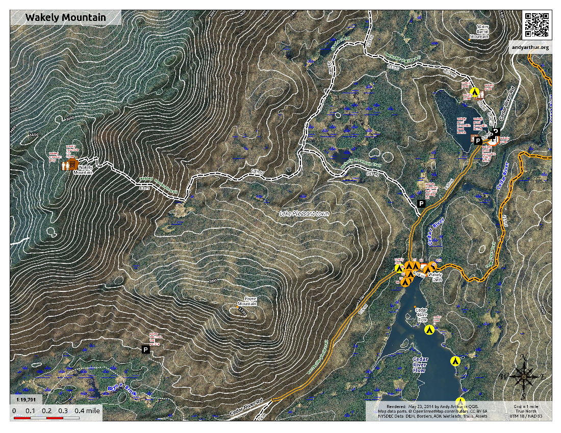Map: Wakely Mountain