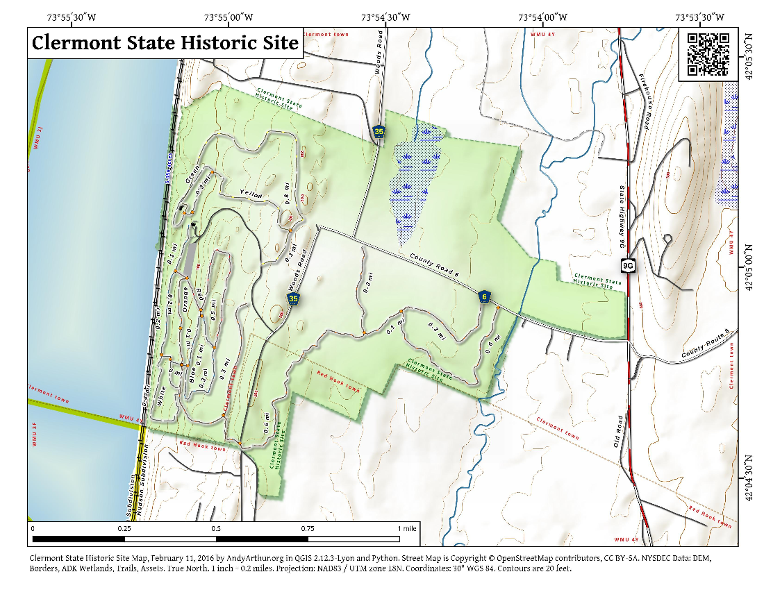 Map: Clermont State Historic Site