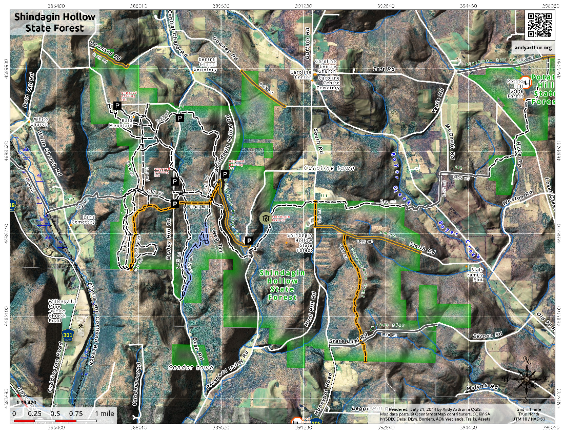 Map: Shindagin Hollow State Forest