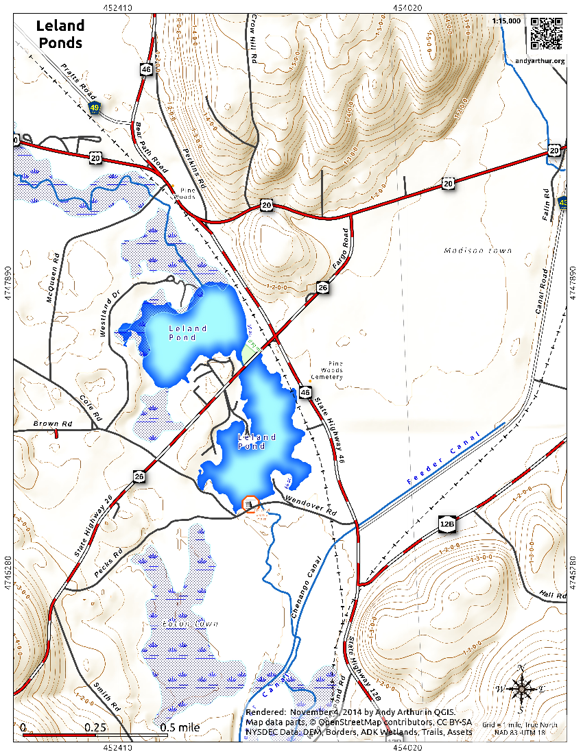 Map: Leland Ponds