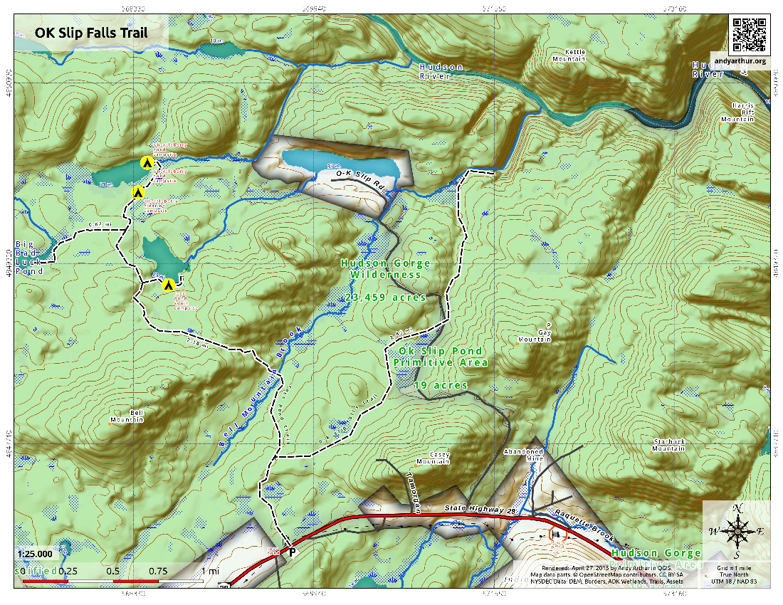 Map: OK Slip Falls Trail